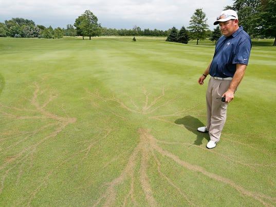 LAF Bangert: Boom! Lightning bolt does a number on Purdue's Kampen Golf Course