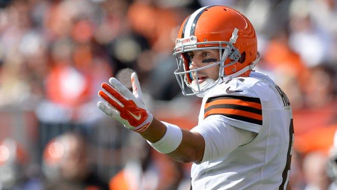 Cleveland Browns quarterback Brian Hoyer.