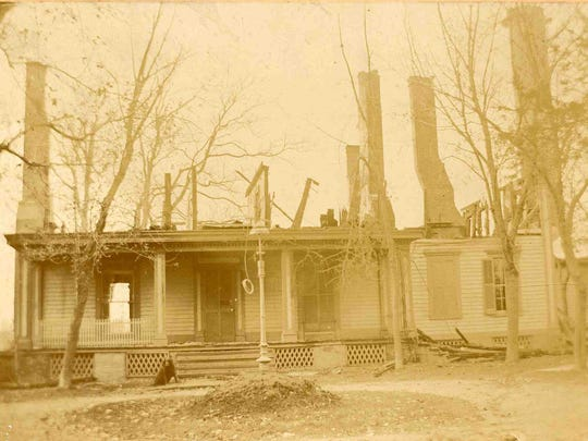 Lemmon Hill, home of Purnell Toadvine. The home was destroyed by fire in 1898 after surviving the 1886 fire. The property would become the John B. Parsons Home for the Aged.