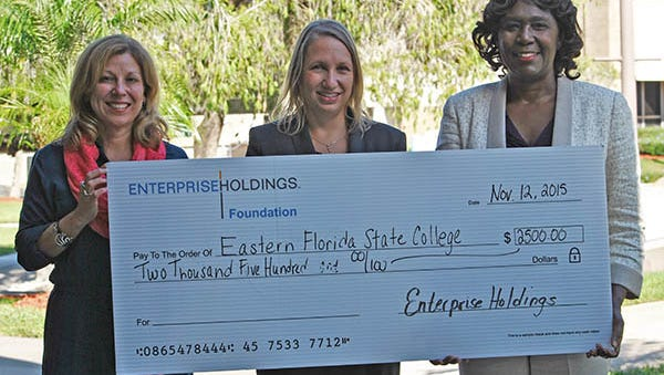 EFSC recently received a $2,500 grant from Enterprise Holdings to help struggling students pay for textbooks.
