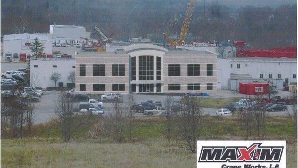 A graphic rendering of Maxim's planned building.