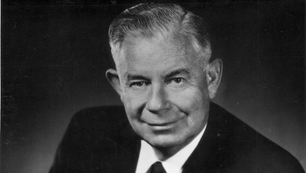 Ernest W. McFarland (in a July 1964 photo) served Arizona in a variety of public positions.