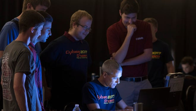 Louisiana Tech students participate in Cyber Storm, an annual day-long cyber security competition held on campus. Last year, the University awarded diplomas to the first five cyber engineering college graduates ever in the world.