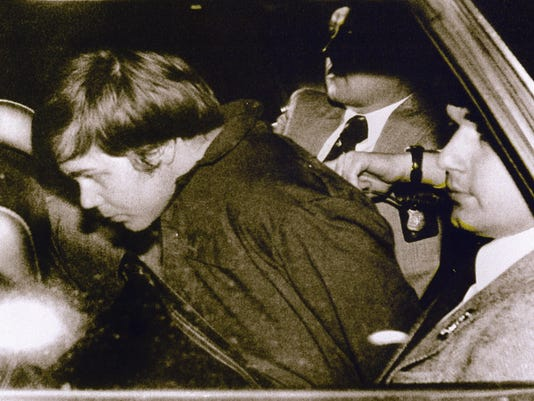 This 30 March 1981 file photo shows John Hinckley