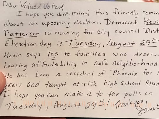 This mailer was sent in support of Phoenix City Council