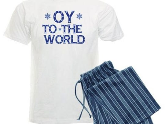 Oy To The World pajamas from Cafe Press.