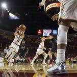 Freshman guard Sabrina Haines (3) had a season high 19 points Sunday in ASU's 63-45 win at Washington State.