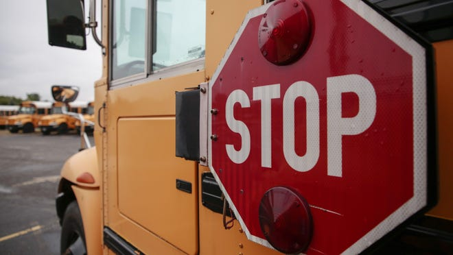The stop sign on a Columbus City school bus last year.