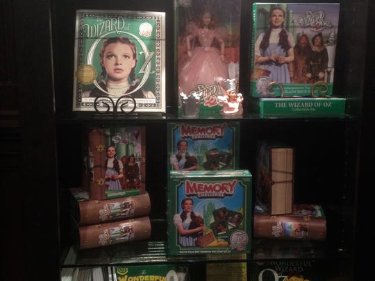 A gift shop at the Hotel del Coronado has four tall shelf units filled with Wizard of Oz memorabilia in a nod to Oz author L. Frank Baum, who was a winter guest at the resort in the early 1900s.