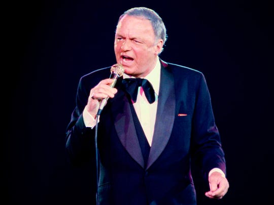 Frank Sinatra performs during a 1979 concert at the Nassau Coliseum in Uniondale, N.Y.