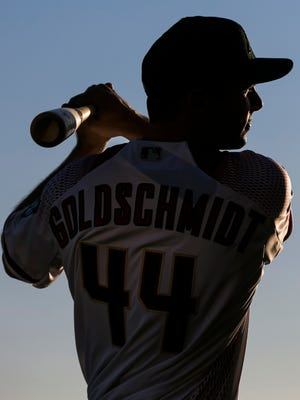 Diamondbacks' Paul Goldschmidt poses for portraits during Photo Day at Salt River Fields at Talking Stick on Sunday, February 28, 2016.