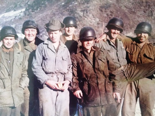 A photo from Private Donald Podany's war scrapbook by his daughter Kim and submitted by Dave Rizzo: On the left is Podany, United States Army, 24th Infantry Division, serving in Korea during the Korean War from 1951-1953.