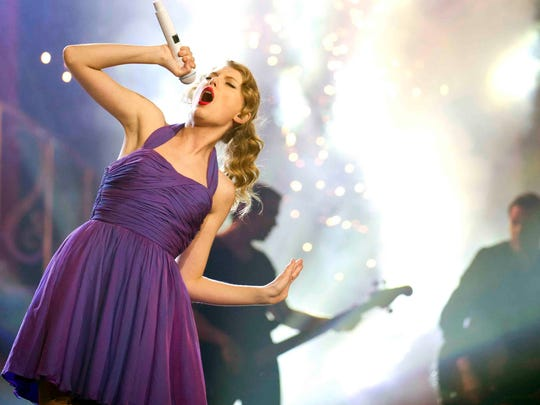 Singer Taylor Swift performs at Madison Square Garden in New York on Nov. 22, 2011.