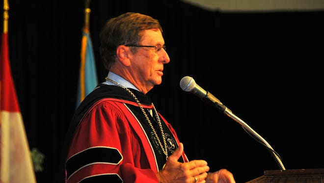 Dr. McCay gives his address. The inauguration ceremony was held Friday afternoon at the Clemente Center to inaugurate the fifth president of Florida Institute of Technology, T. Dwayne McCay, Ph.D.