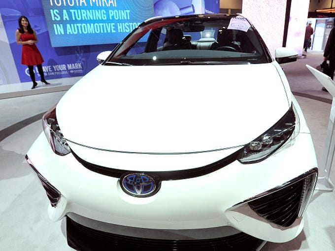 Toyota Mirai, unveiled at 2015 CES Show in Las Vegas.