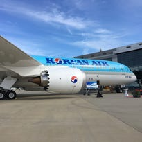 Korean Air shows off new Boeing Dreamliner in South Carolina