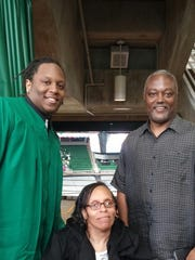 Donavon Clark with mom Jacque' and dad Phil Clark.
