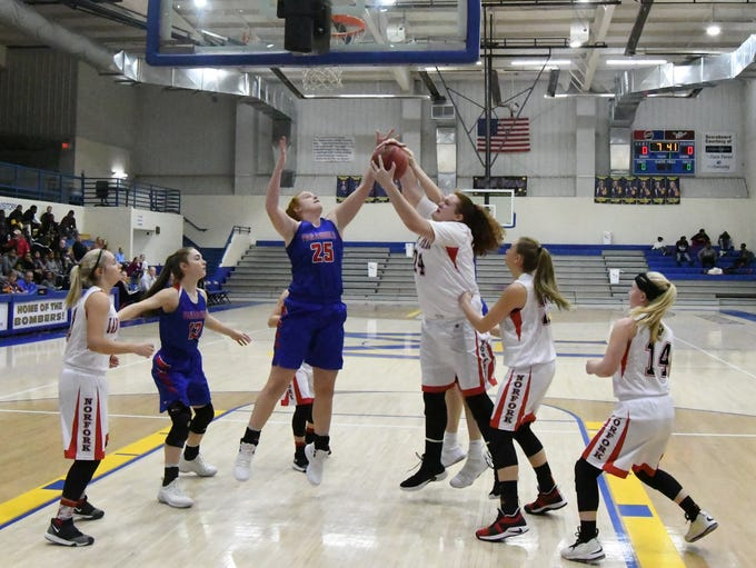 An image from the Paragould-Norfork senior girls' game