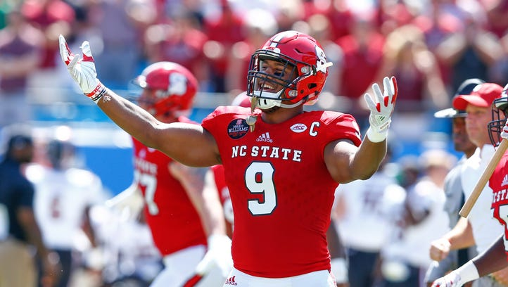 Most draft analysts predict Bradley Chubb to the Colts