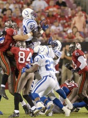 The Colts recover an onside kickoff in the fourth quarter
