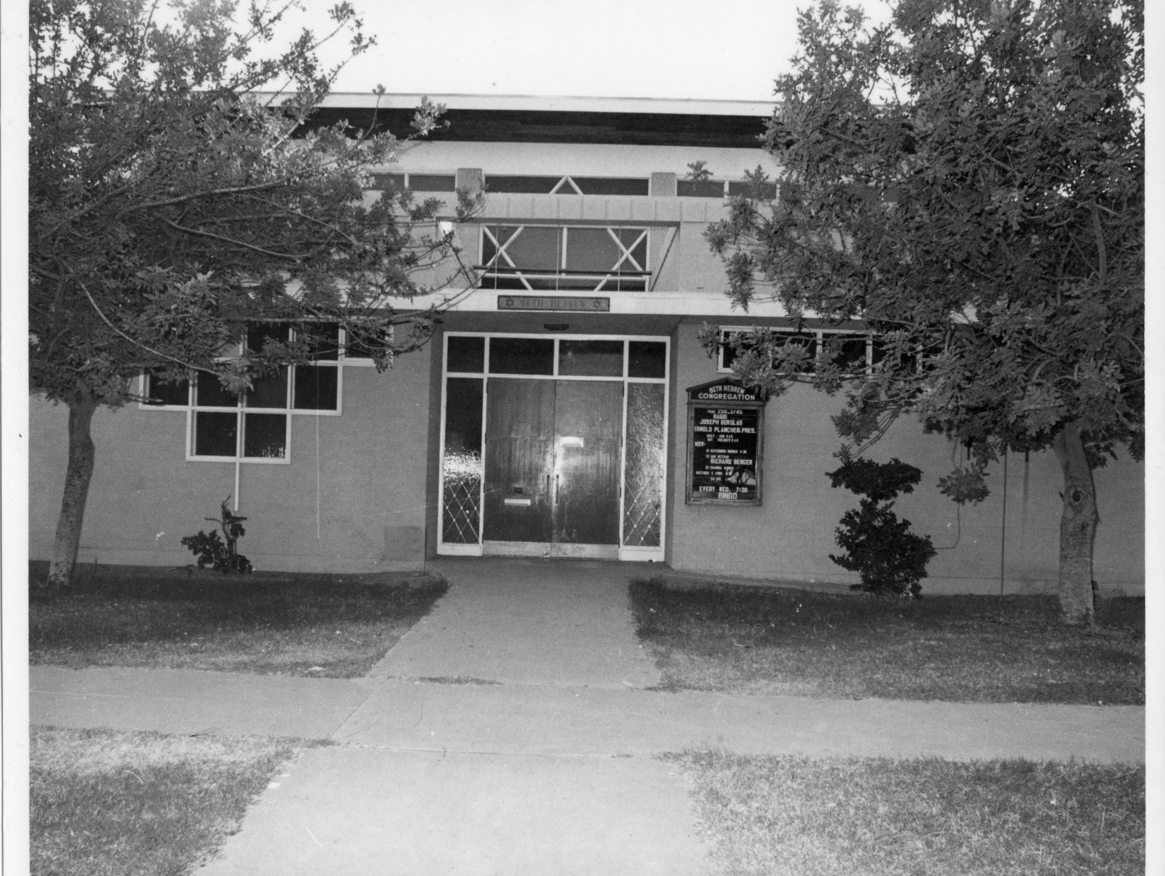 A photo of the outside of Beth Hebrew upon its completion