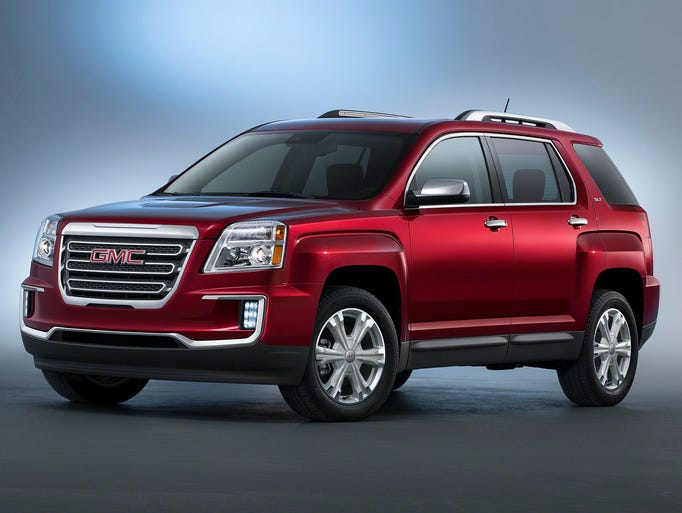 The 2016 GMC Terrain (above) and Terrain Denali will