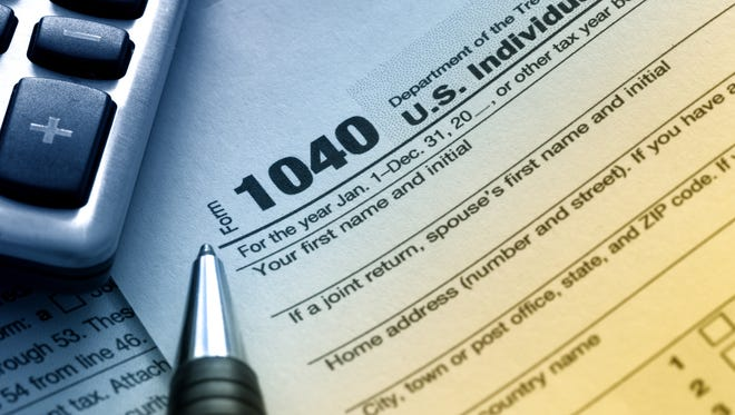 US Tax Form 1040.
