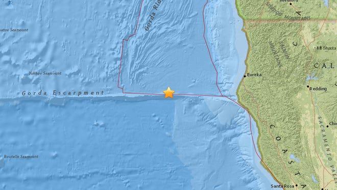 An 8.5 magnitude earthquake struck off the California coast Thursday.