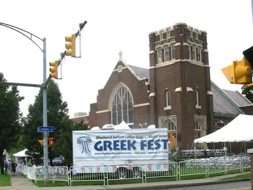 The Greek Festival was a learning experience for both Greek culture (certainly the food) and the Greek Orthodox Church.