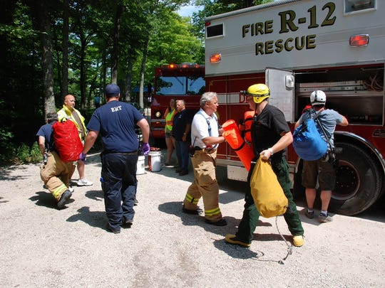 Responders from several Door County agencies teamed up to rescue an injured woman who fell from a cliff in Ellison Bay Saturday. The injured woman was airlifted to a Green Bay hospital.
