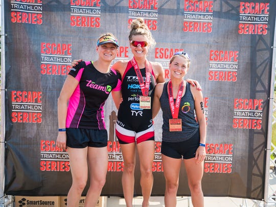 The Des Moines Escape women's podium included winner