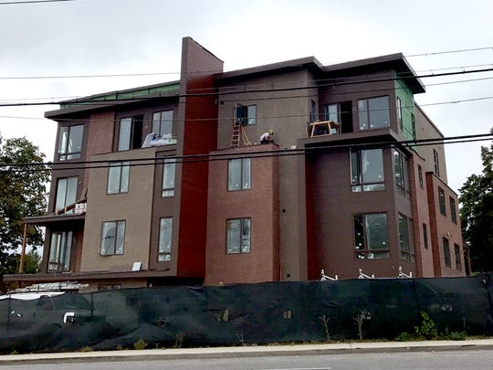 A luxury development under construction at 422 E. Boston Post Road in Mamaroneck in September 2017.