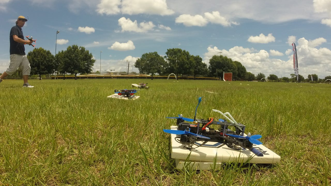 FPV quadcopters race in a local Orlando Multi GP race on Sunday June 5. Matthew Saunders, Central Florida Future