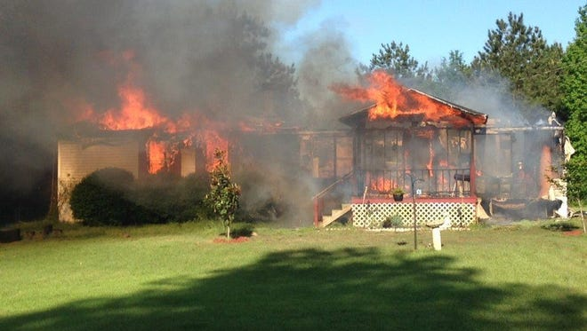 A Campti home was destroyed Monday morning in a fire, according to the Natchitoches Parish Sheriff's Office.