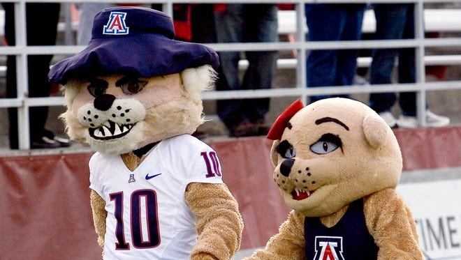"Wilbur and Wilma Wildcat may be the mascots for Arizona, but the fans still say, ""Bear Down."""
