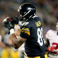 Steelers tight end Ladarius Green more than doubled his season reception and yardage totals in Week 13, catching six passes for 110 yards and a TD.