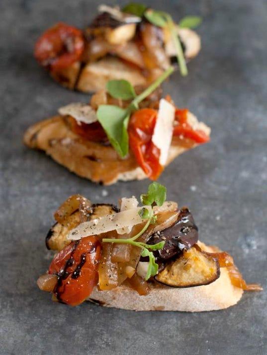 Food Eggplant Crostini