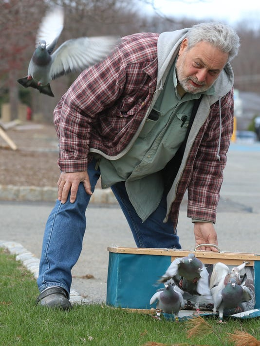 Vinnie Torre raises and races pigeons from his coop in Wayne after moving there from Hoboken two years ago. He loves racing pigeons and has worked with fellow enthusiast Mike Tyson on a televison series about pigeons.