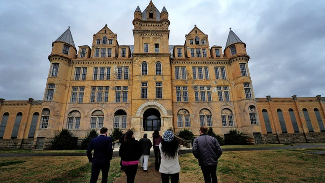 Members of the Metro Council and other officials tour the Tennessee State Prison on Monday, Dec. 21, 2015, in Nashville.