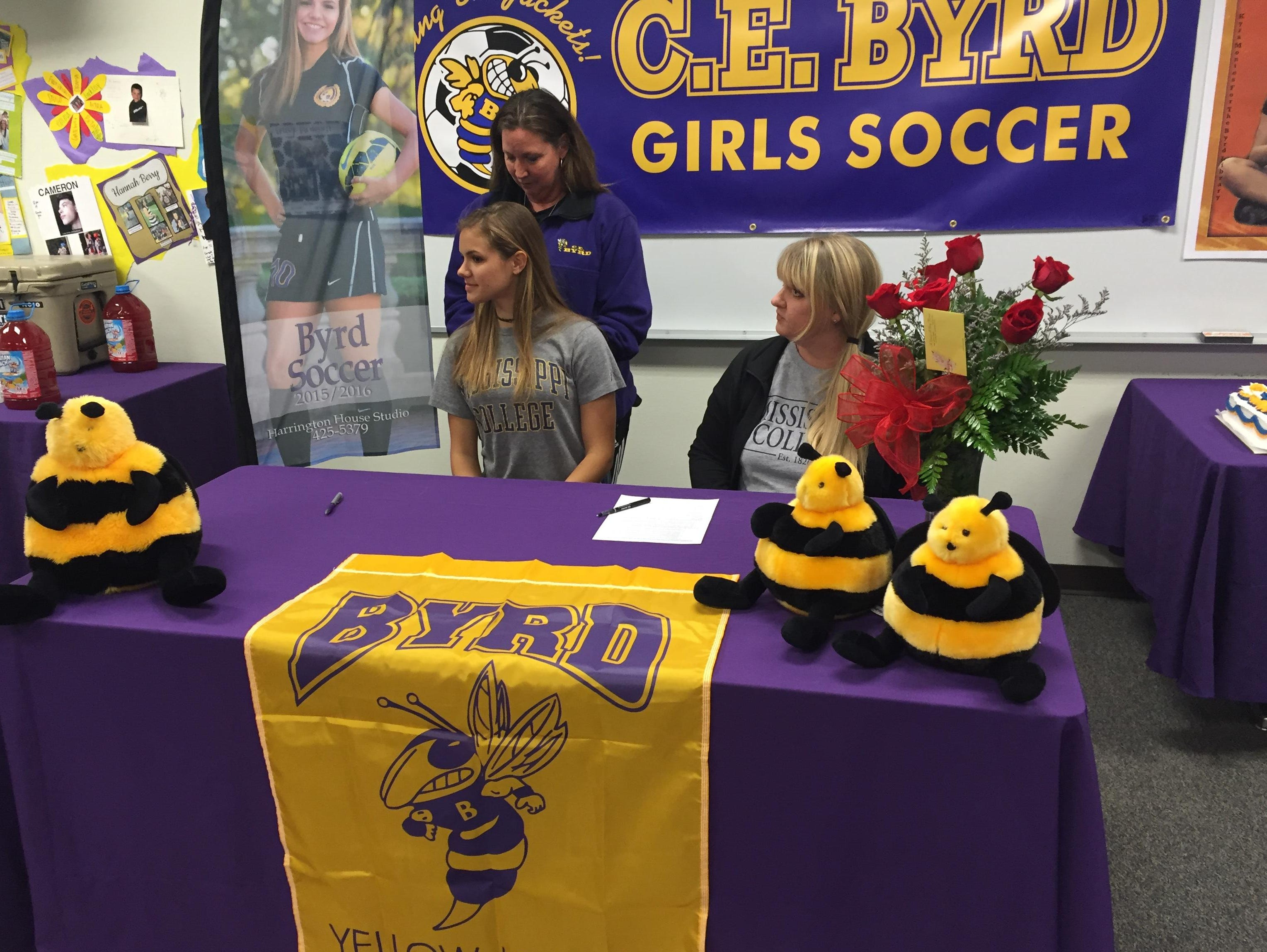 Wednesday, Byrd senior Kyra Montes signed to play soccer at Mississippi College.