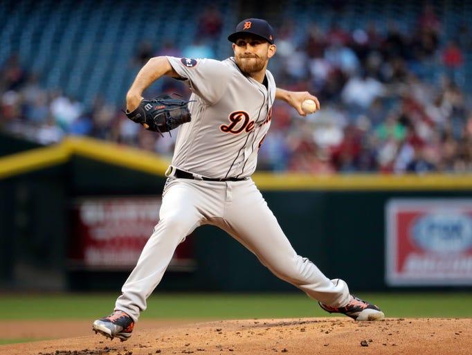 Detroit Tigers starting pitcher Matthew Boyd throws