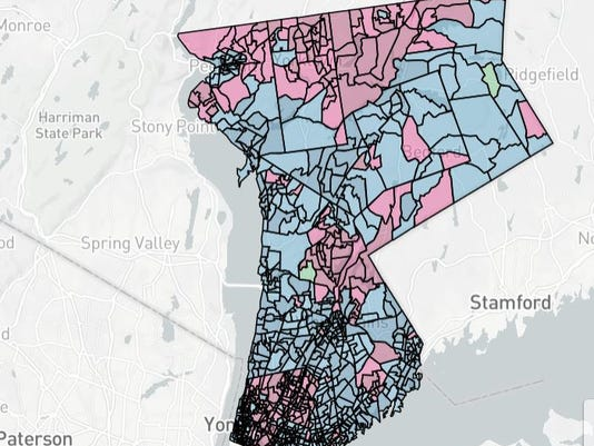 Map Latimer-Astorino election results map 2017 revised