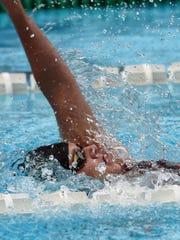 Maureen O'Sullivan, swimming for the Scarsdale Swim