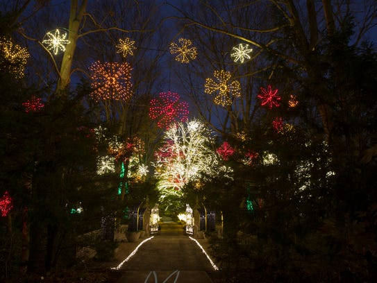 The new Winterlights exhibit at the outdoor Newfields