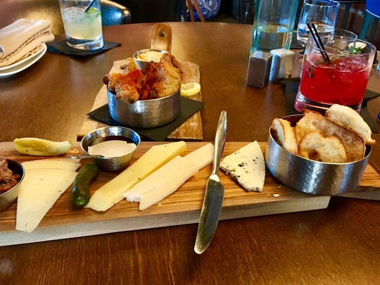 The cheese plate at the Republic on Grand, a new bar