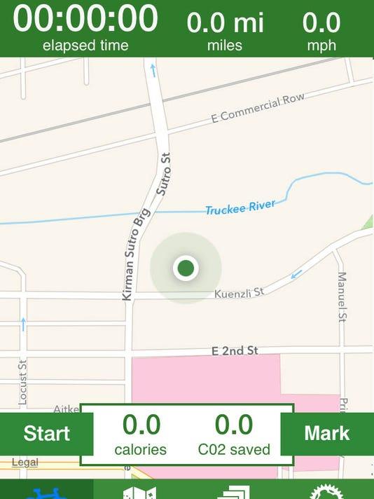 RenoTracks app