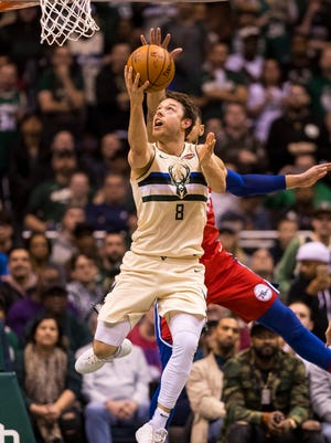 Bucks guard Matthew Dellavedova has been sidelined with an ankle injury since the first week of February.