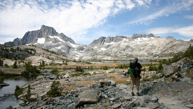 Banner Peak in the Ansel Adams wilderness. The Lions fire started with a lightning strike June 1, 2018 and flared up June 23.