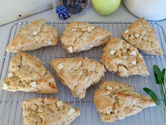 Apple Sage Scones with Swiss Cheese.