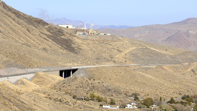 I-580  forms a ribbon in Washoe Valley in 2011.